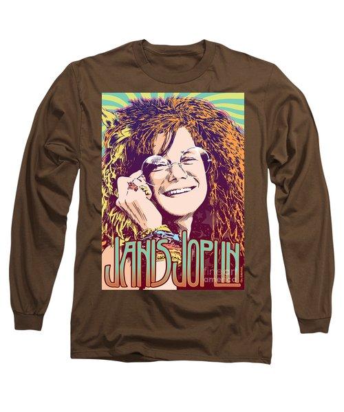 Janis Joplin Pop Art Long Sleeve T-Shirt