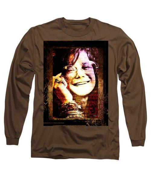 Janis Joplin - Upclose Long Sleeve T-Shirt