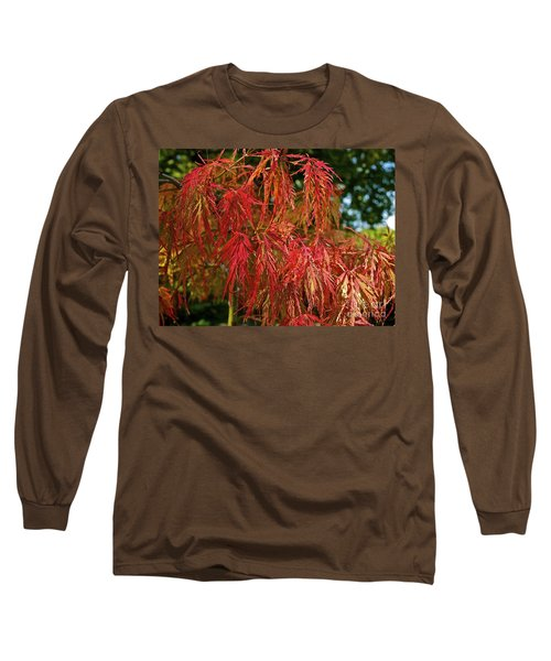 Japanese Maple Long Sleeve T-Shirt by Linda Bianic