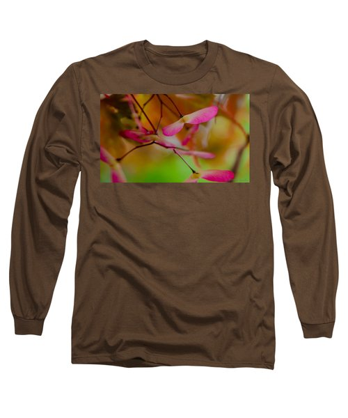 Long Sleeve T-Shirt featuring the photograph Japanese Maple Seedling by Brenda Jacobs