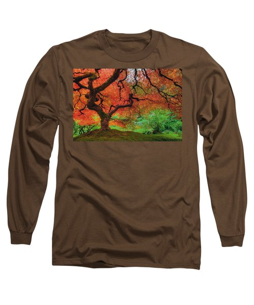 Japanese Maple Tree In Autumn Long Sleeve T-Shirt