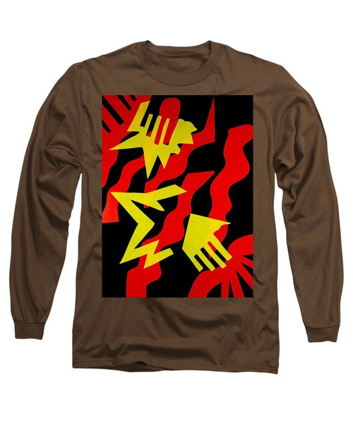 Long Sleeve T-Shirt featuring the mixed media Jazz by Michele Myers