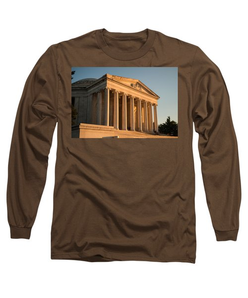 Jefferson Memorial Sunset Long Sleeve T-Shirt by Steve Gadomski