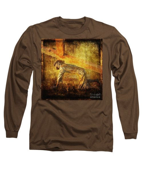 Jesus Falls Again Via Dolorosa 7 Long Sleeve T-Shirt