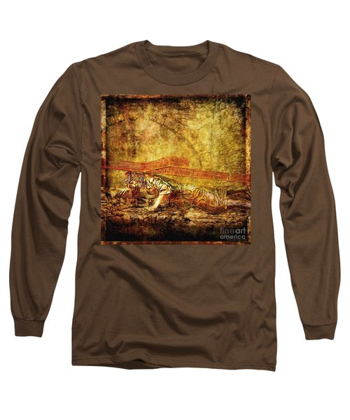 Jesus Falls Third Time Via Dolorosa 9 Long Sleeve T-Shirt by Lianne Schneider