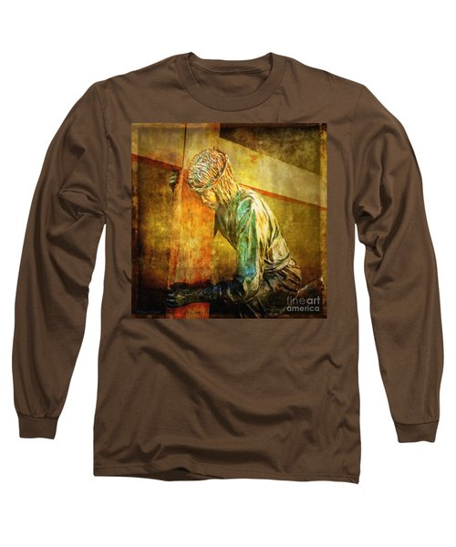 Jesus Falls Via Dolorosa 3 Long Sleeve T-Shirt by Lianne Schneider
