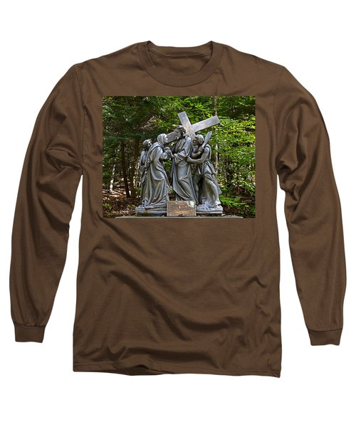 Jesus Meets His Mother Long Sleeve T-Shirt