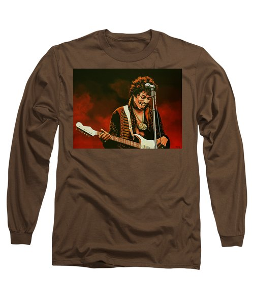 Jimi Hendrix Painting Long Sleeve T-Shirt