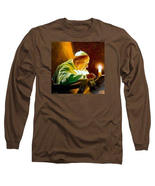John Paul II Long Sleeve T-Shirt by Henryk Gorecki
