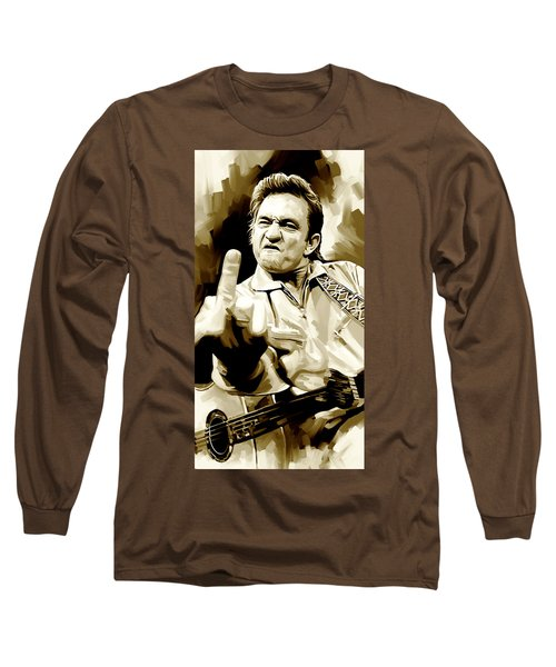 Johnny Cash Artwork 2 Long Sleeve T-Shirt