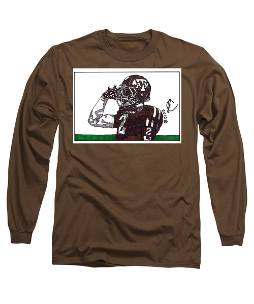 Johnny Manziel The Salute Long Sleeve T-Shirt by Jeremiah Colley