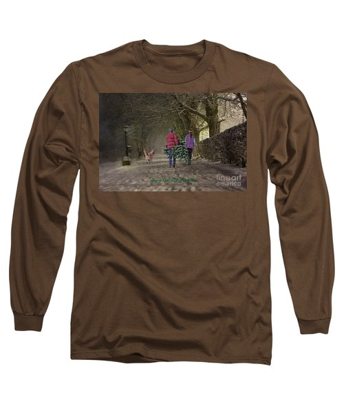 Joyeux Noel - Merry Christmas Long Sleeve T-Shirt by Lianne Schneider