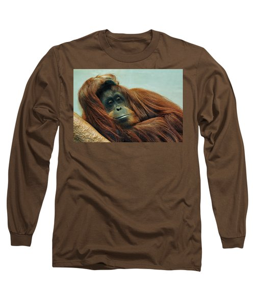 Long Sleeve T-Shirt featuring the photograph Just Hanging Around by Jean Goodwin Brooks
