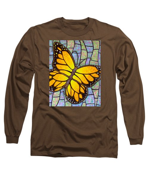 Long Sleeve T-Shirt featuring the painting Karens Butterfly by Jim Harris
