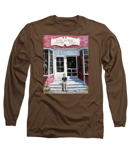 Long Sleeve T-Shirt featuring the painting Katie At Bass Harbor Maine by Lee Piper