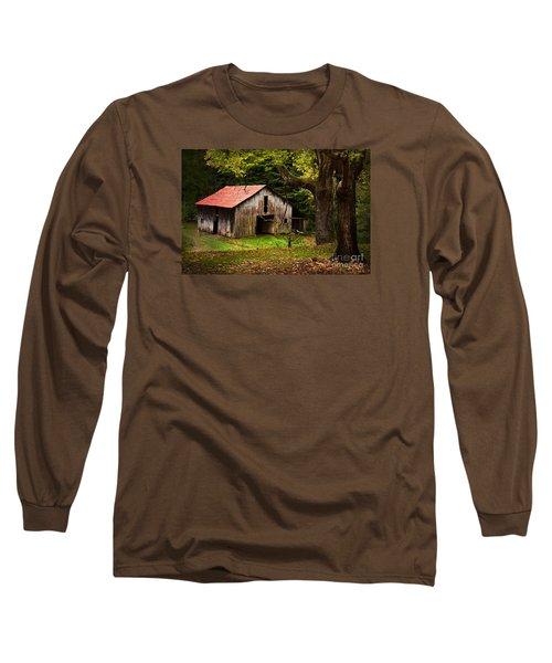 Kentucky Barn Long Sleeve T-Shirt by Lena Auxier