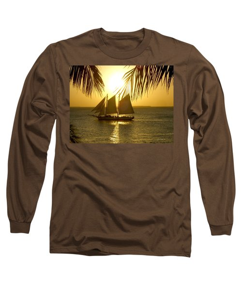 Key West Sunset Long Sleeve T-Shirt by Joan  Minchak
