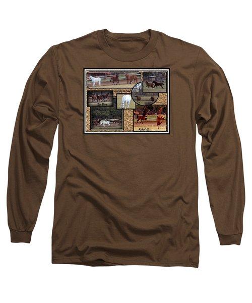 Horses Kickin It  Long Sleeve T-Shirt