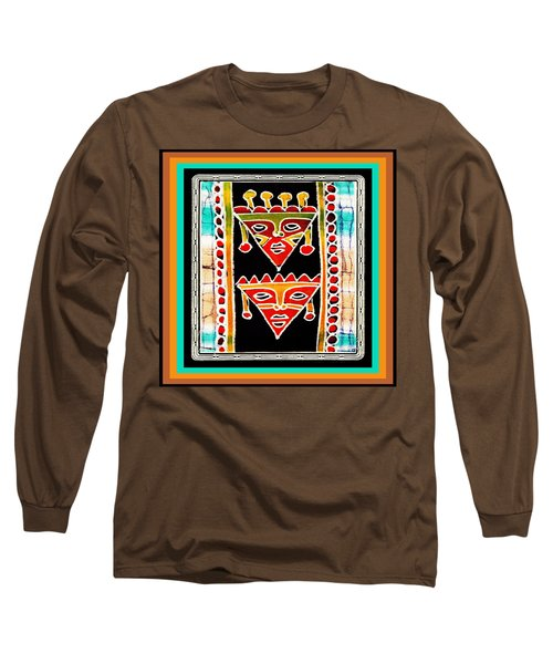 Long Sleeve T-Shirt featuring the digital art King And Queen by Vagabond Folk Art - Virginia Vivier