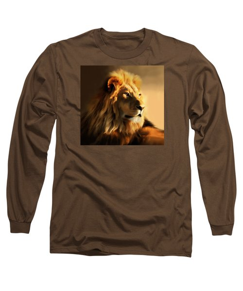King Lion Of Africa Long Sleeve T-Shirt