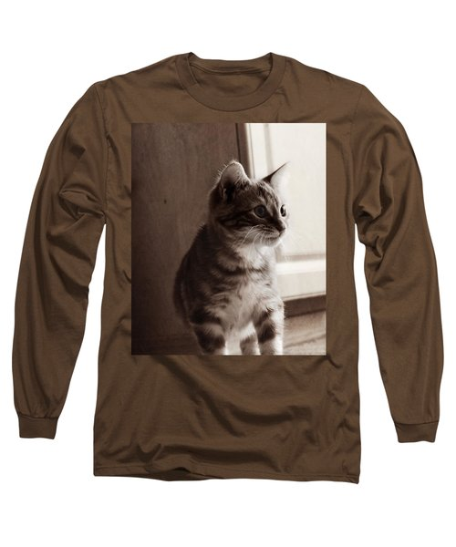 Long Sleeve T-Shirt featuring the photograph Kitten In The Light by Melanie Lankford Photography