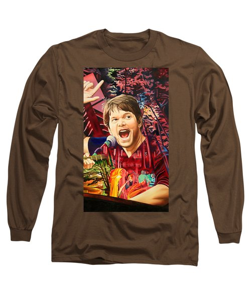 Long Sleeve T-Shirt featuring the painting Kyle Hollingsworth At Hornin'gs Hideout by Joshua Morton