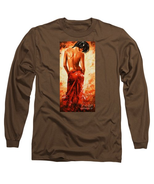 Lady In Red 27re Large  Long Sleeve T-Shirt by Emerico Imre Toth