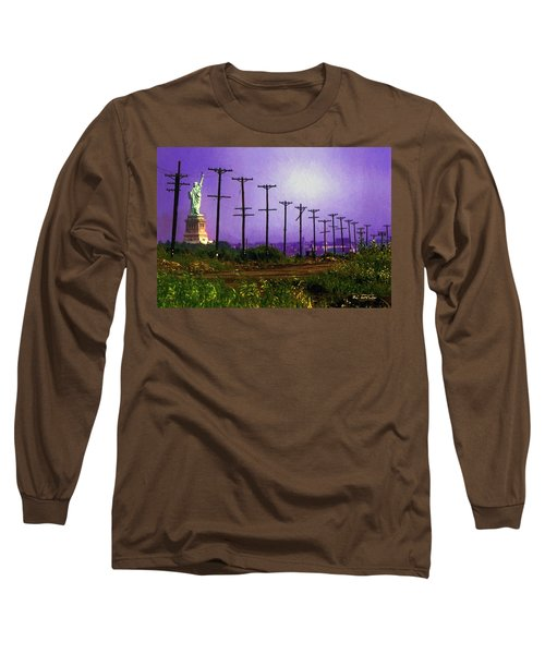 Lady Liberty Lost Long Sleeve T-Shirt by RC deWinter