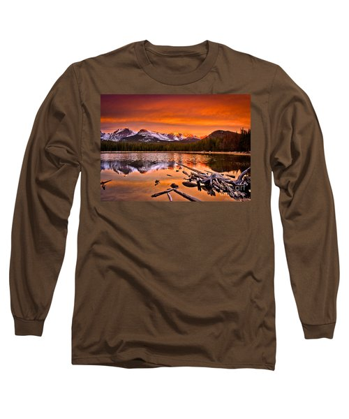Lake Bierstadt In The Morn Long Sleeve T-Shirt by Steven Reed