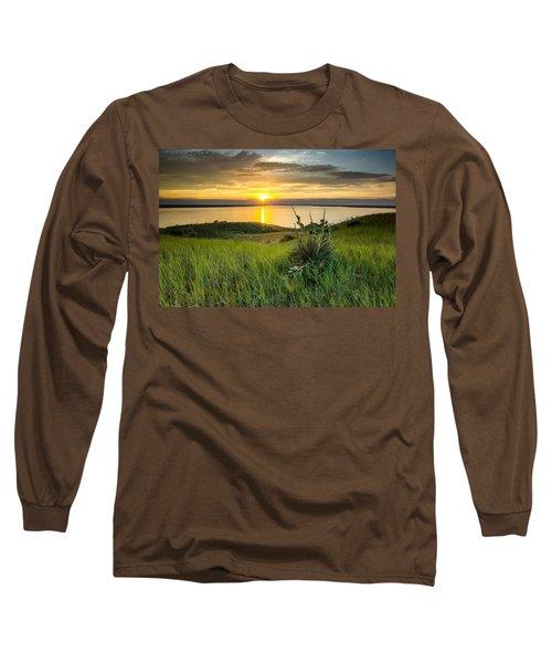 Lake Oahe Sunset Long Sleeve T-Shirt