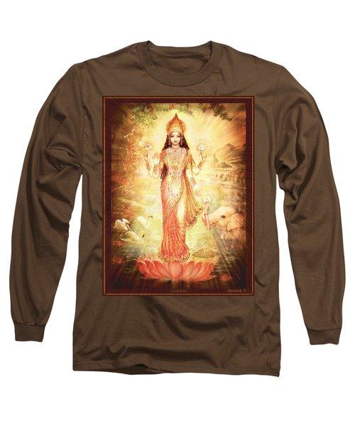 Lakshmi Goddess Of Fortune Vintage Long Sleeve T-Shirt