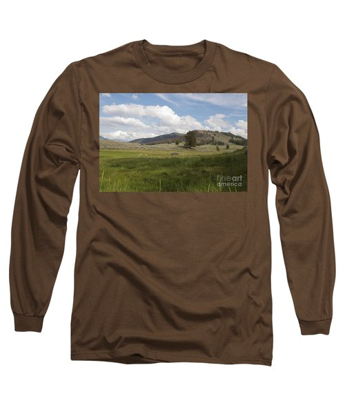 Long Sleeve T-Shirt featuring the photograph Lamar Valley No. 2 by Belinda Greb