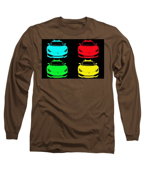 Long Sleeve T-Shirt featuring the photograph Lambo Pop Art by J Anthony