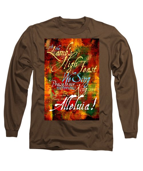 High Feast Of The Lamb Long Sleeve T-Shirt by Chuck Mountain