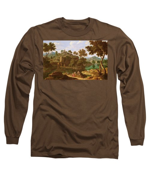 Landscape With A River Oil On Canvas Long Sleeve T-Shirt