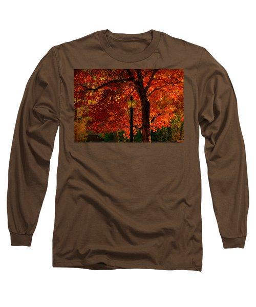 Lantern In Autumn Long Sleeve T-Shirt by Susanne Van Hulst