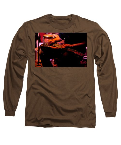 Lap Steel Long Sleeve T-Shirt by Leeon Pezok