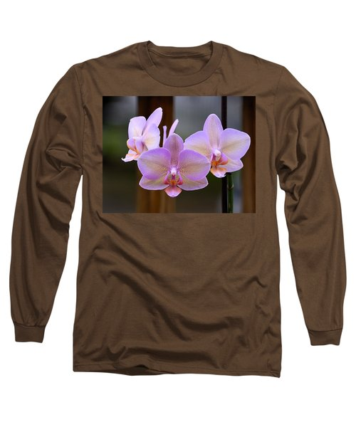 Lavender Orchid Long Sleeve T-Shirt by Kathy Eickenberg