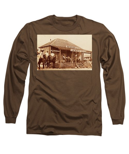 Law West Of The Pecos Long Sleeve T-Shirt by Pg Reproductions