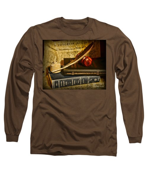 Lawyer - The Constitutional Lawyer Long Sleeve T-Shirt by Paul Ward