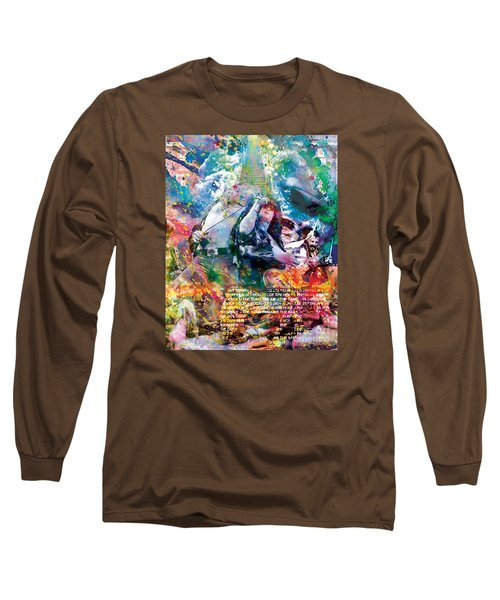 Led Zeppelin Original Painting Print  Long Sleeve T-Shirt by Ryan Rock Artist
