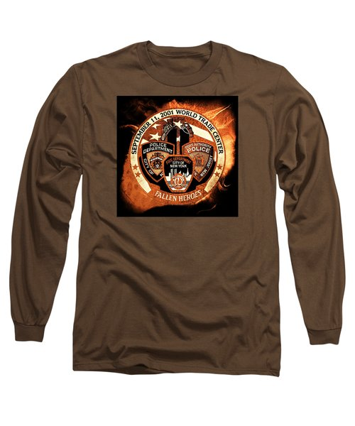 Long Sleeve T-Shirt featuring the mixed media Least We Forget 3 by Nick Kloepping