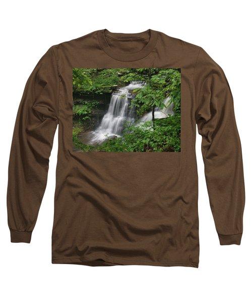 Lichen Falls Ozark National Forest Long Sleeve T-Shirt