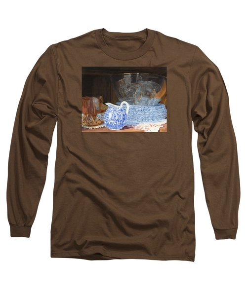 Long Sleeve T-Shirt featuring the painting Life Is A Carnival Glass by Lynne Reichhart