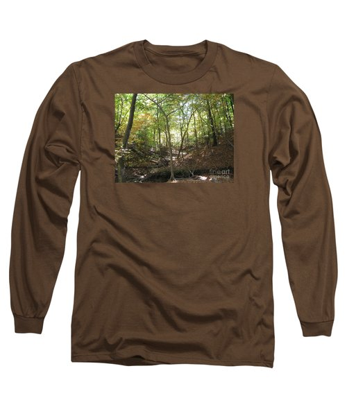 Light And Shadow Through The Forest Long Sleeve T-Shirt
