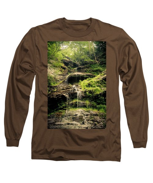 light flow at Cathedral Falls Long Sleeve T-Shirt
