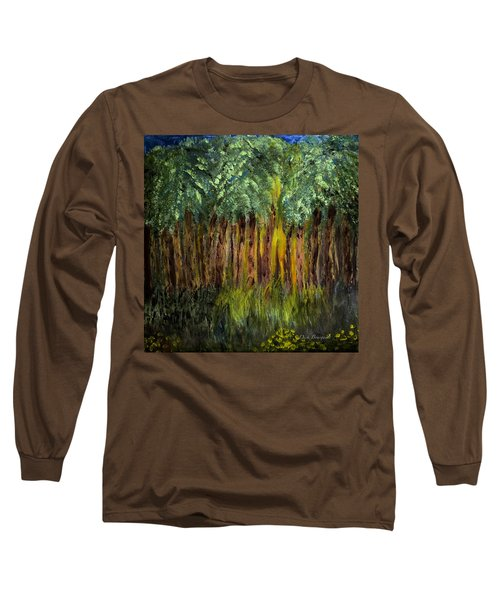 Light In The Forest Long Sleeve T-Shirt by Dick Bourgault
