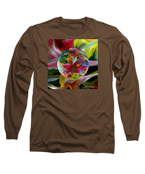 Long Sleeve T-Shirt featuring the painting Lillium Bulbiferum by Robin Moline