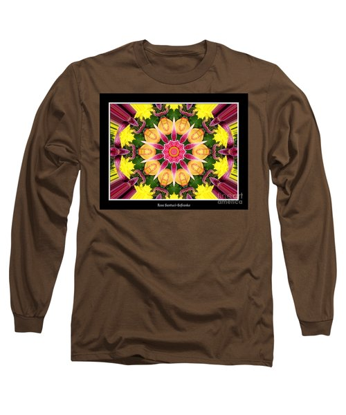 Long Sleeve T-Shirt featuring the photograph Lily And Chrysanthemums Flower Kaleidoscope by Rose Santuci-Sofranko