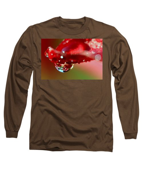 Long Sleeve T-Shirt featuring the photograph Lily Droplets by Suzanne Stout